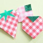 折り紙でいちごの簡単な折り方!平面で子ども・幼稚園児もOKな作り方!