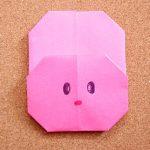 折り紙うさぎの折り方!幼児・子どもも簡単でかわいい平面の作り方!
