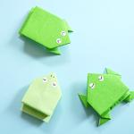 折り紙で跳ぶカエルの簡単な折り方・作り方3種類!