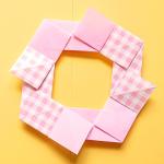 折り紙リース4枚で簡単な折り方・作り方!